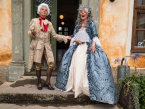 Mia och Amber på Christinehof slott