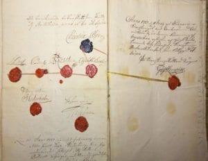 Christina Pipers namnteckning från 1727