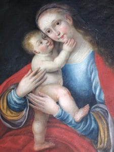 Madonnabild i Krageholms slottskapell