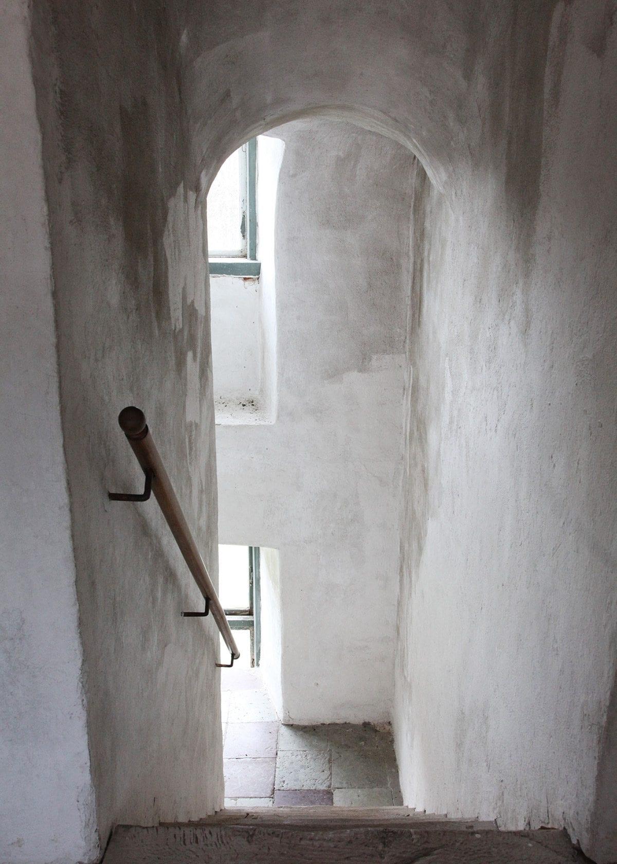 Branta trappor i Christinehof slott