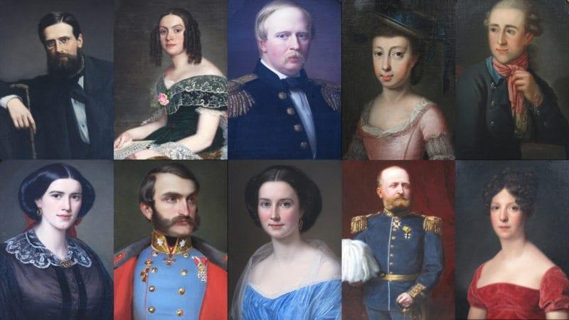Berättelsesalong med alla dessa porträtt