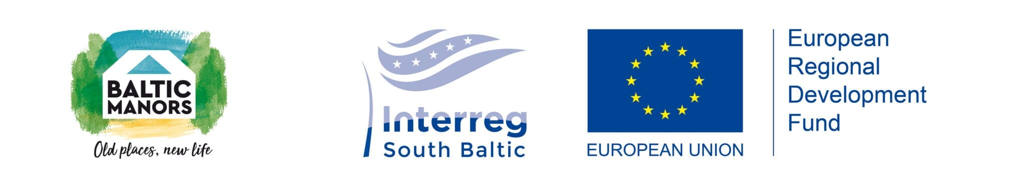 Baltic Manor Logo Compound logo with ERDF