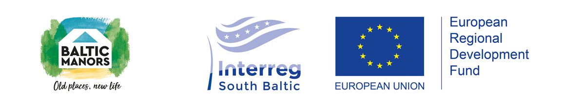 Baltic Manor logo with ERDF