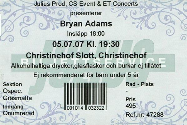 Bryan Adams 070705-Biljett-Bryan-Adams
