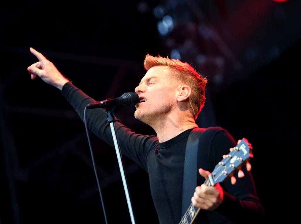 Konsert med Bryan Adams på Christinehof. Bryan Adams lockade stor publik, över 5000 personer hade köpt biljetter.