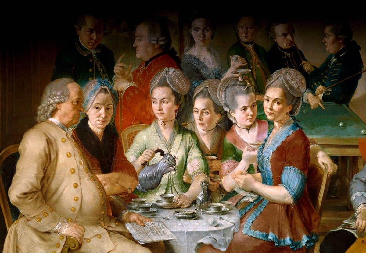 Litterär salong a la 1700-tal